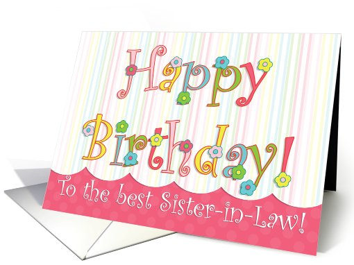 Flower Carnival Sister-in-Law Birthday card (432975)