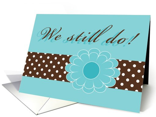 Vow Renewal Invitation, Aqua Brown Teal Espresso Colors card (651152)