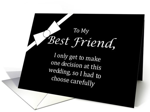 Funny Best Friend Best Man Request card (458790)