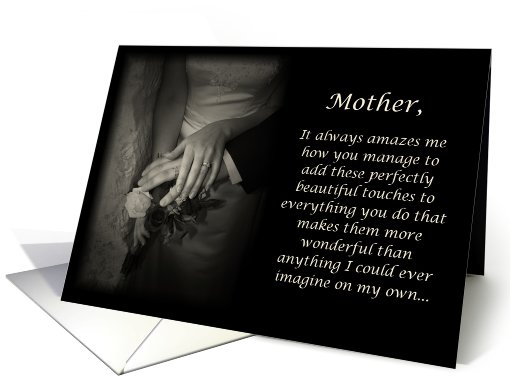 Mother, thank you for helping with wedding card (465241)