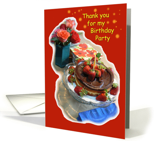 Birthday Party Thank you card (393671)