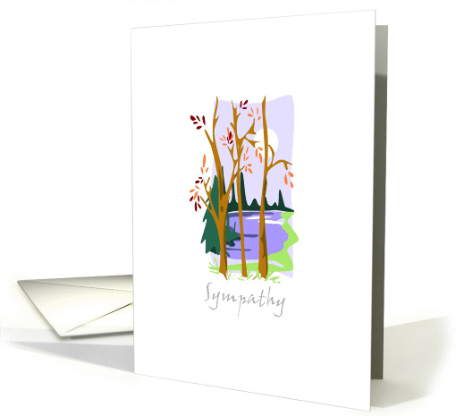 Sympathy moon over lake card (229268)