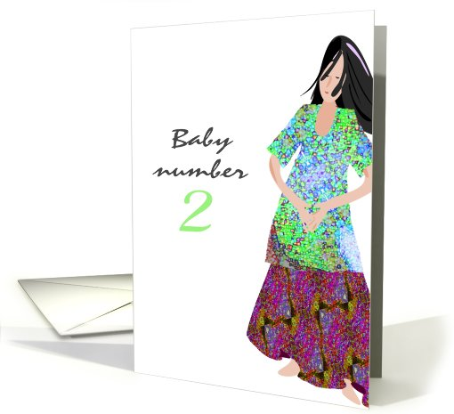 We're Having Second Baby card (447291)