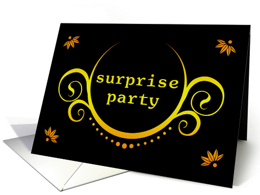 surprise party invitation card (893200)