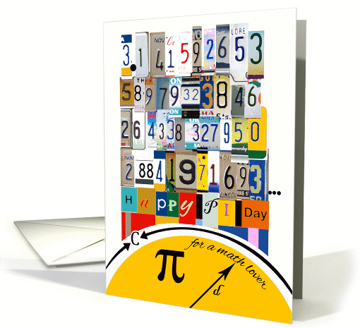 Pi Day 3. 14 for Math Lover, Numbers & Equations card (911639)