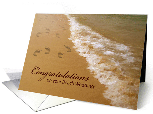 congratulations, beach wedding card (871887)