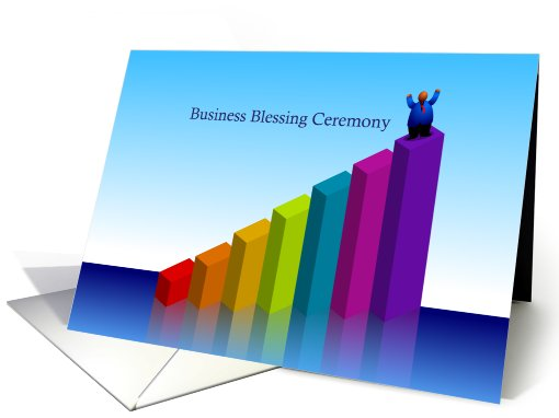 invitation, business blessing ceremony, chart, top card (822594)
