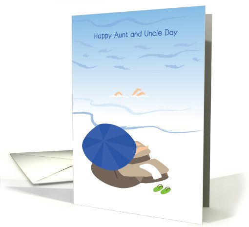 happy aunt and uncle day, seaside card (829436)