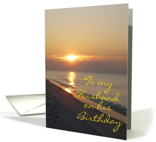 Birthday Husband Seashore card (291616)