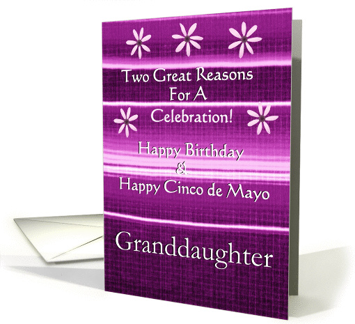 Granddaughter / Happy Cinco de Mayo & Happy Birthday card (392502)