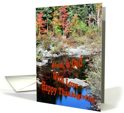 Mom & Dad With Love Happy Thanksgiving / Autum card (510140)