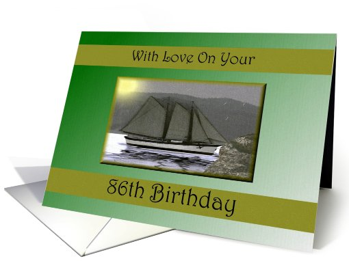 86th / Age Specific Birthday card (583560)