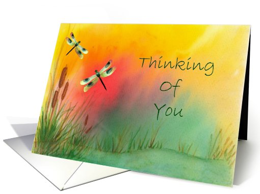 Dragonflies Thinking Of You card (433769)