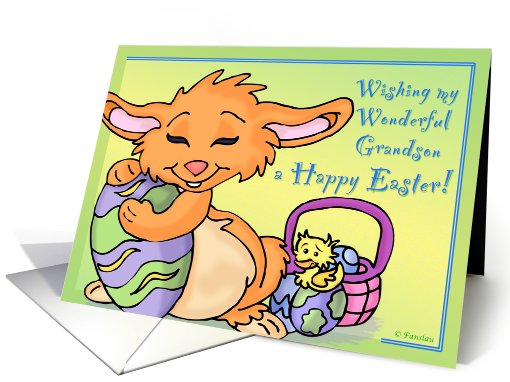Easter Wishes for Grandson card (546394)