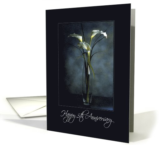 Happy Anniversary - 5th - Wedding - Flowers in Vase card (821410)
