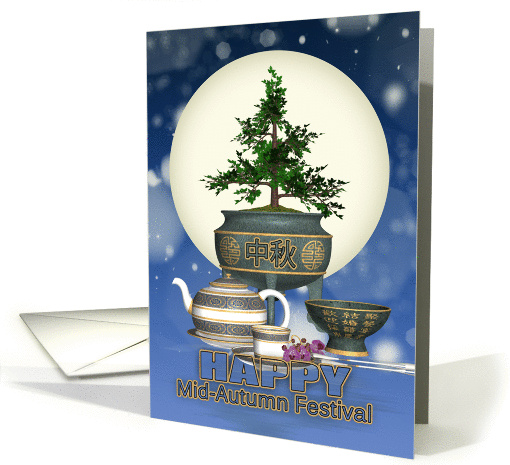 Chinese Mid-Autumn Moon Festival With Tea And Moon card (962465)