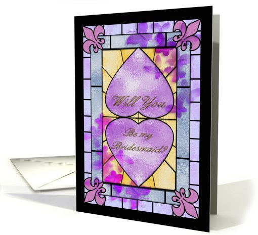 Will you be my bridesmaid stained glass window card (414157)
