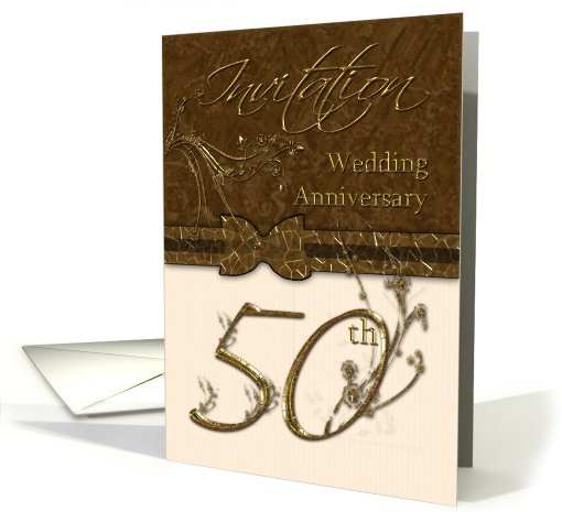 5oth Wedding Anniversary Invitation card (432980)