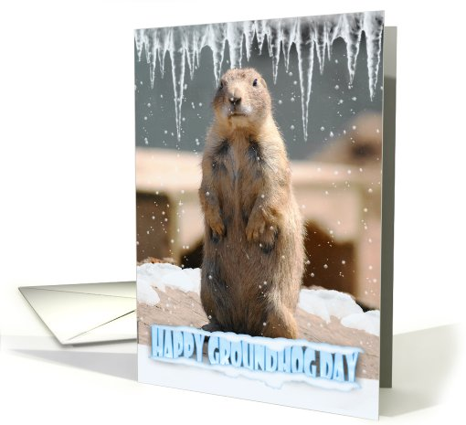 Groundhog Day Card, Happy Groundhog Day card (450901)
