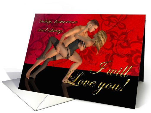 Passionate Adult Valentine's Day Card Total Love card (555950)