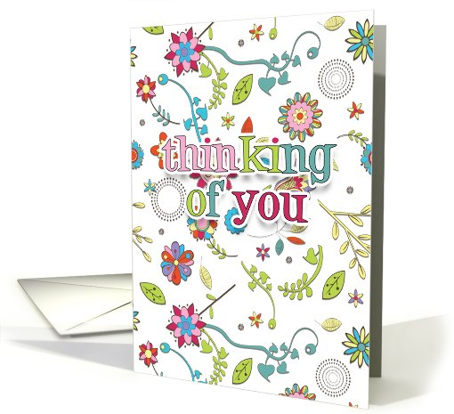 Thinking Of You Card - Floral - Flower Thinking Of You card (798731)