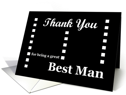 WEDDING Thank You - Best Man card (375875)
