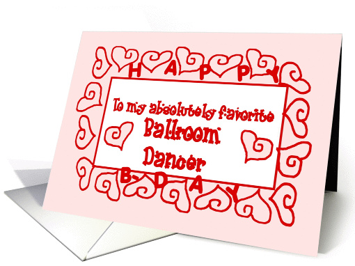 BALLROOM DANCER  - Happy Birthday card (381715)