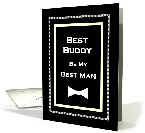 Best Friend - Be My Best Man Invitation card (445677)