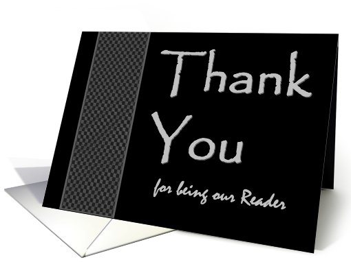 READER  Wedding Thank You -  Checkerboard Pattern card (447926)