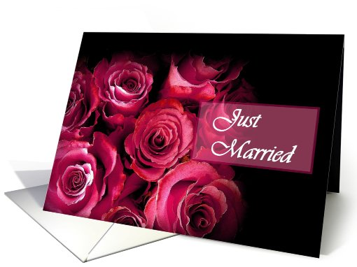 Just Married - Bouquet of Red Roses card (475197)