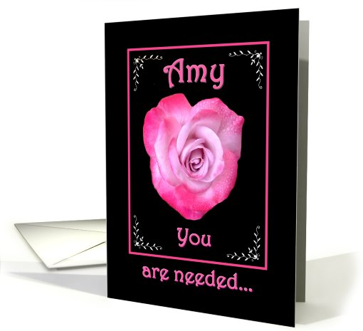 AMY - Be My Bridesmaid - Rose Heart card (497067)