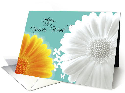 Happy Nurses Week Gerbera daisy card (603717)