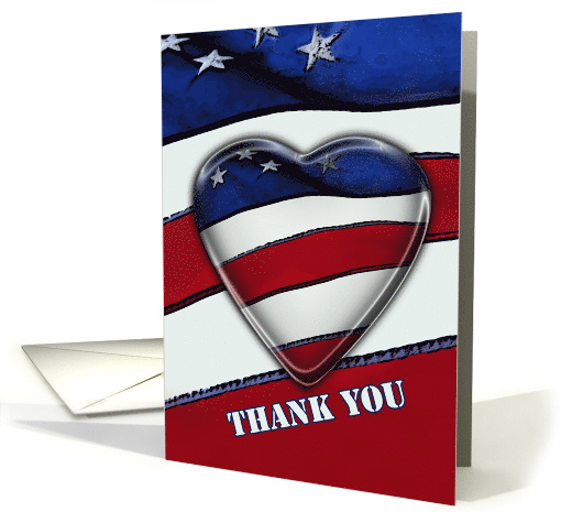 Thank you military Patriotic heart card (559046)