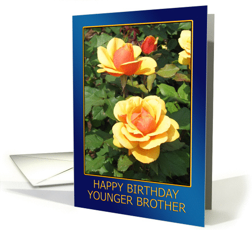 Happy Birthday Younger Brother card (376632)