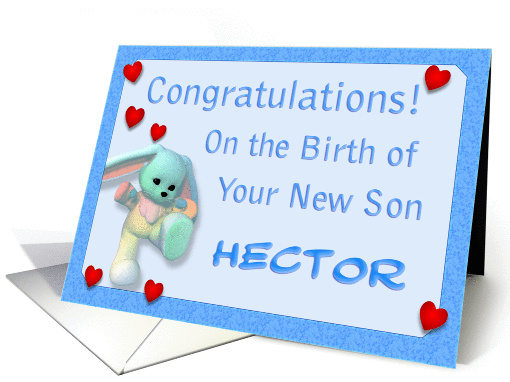 Birth Congratulations, Hector card (383865)