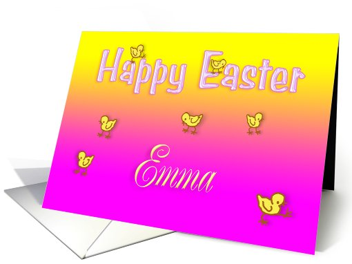 Happy Easter Emma card (404018)
