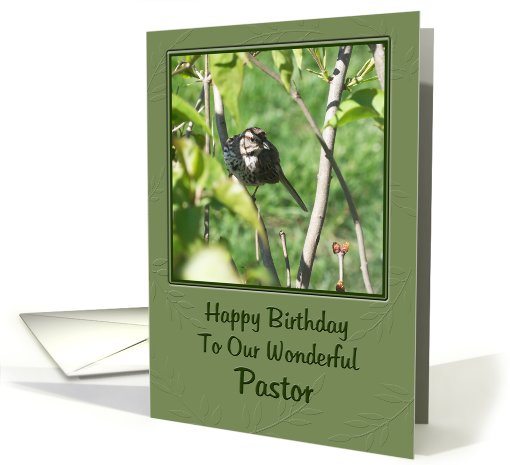 Birthday - PASTOR card (414146)
