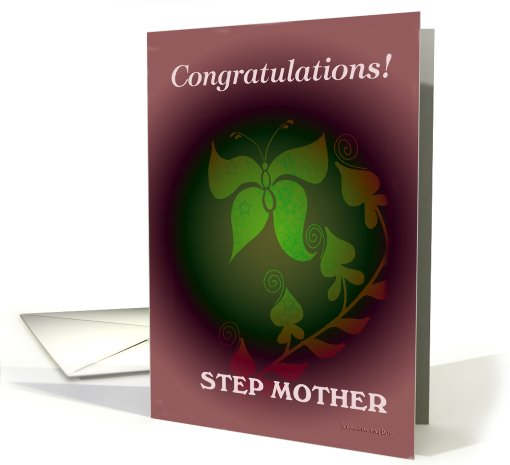 congratulations step mother card (458684)