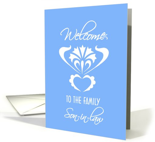 family welcome son-in-law card (473076)