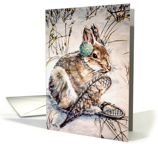 Snowshoe Hare ~ Get Well card (1233920)