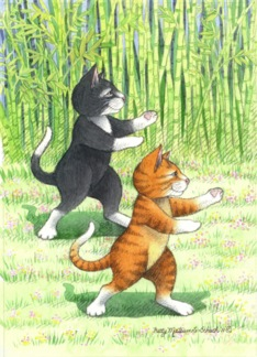 Cats Tai Chi Birthday (Bud & Tony)