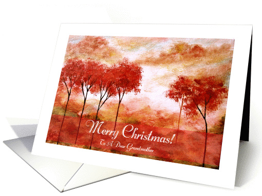 Merry Christmas to Dear Grandmother, Abstract Landscape... (1340562)