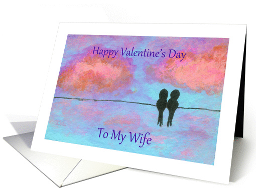 Happy Valentine's Day Wife, Abstract Art Little Black... (1354138)