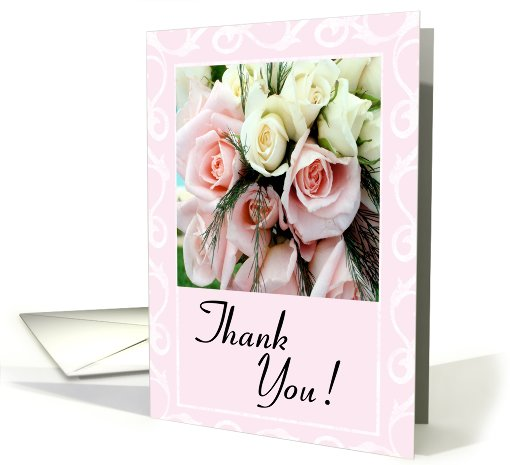 Thank You Wedding Gift - Pink Roses card (409895)