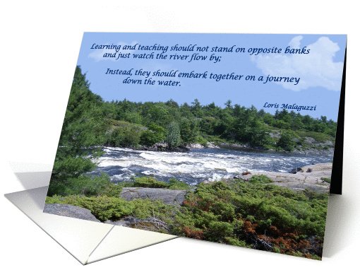 Teacher Birthday River Flow card (386062)
