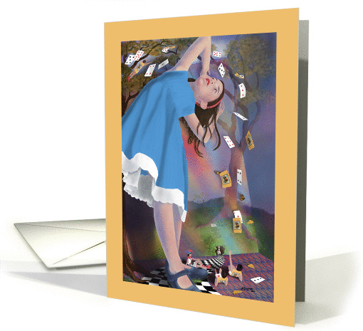Note Card - Alice's Adventures in Wonderland and Flying card (712113)