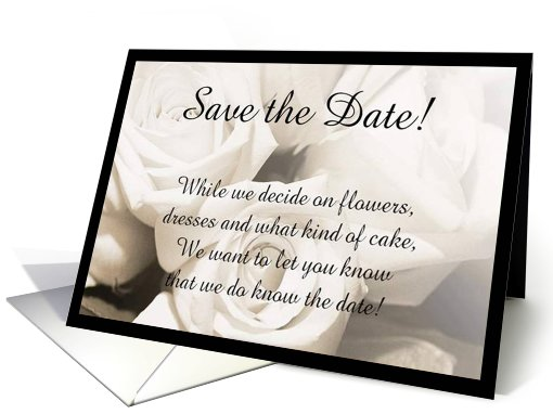 Wedding Save the date cards poem and rings card (408067)