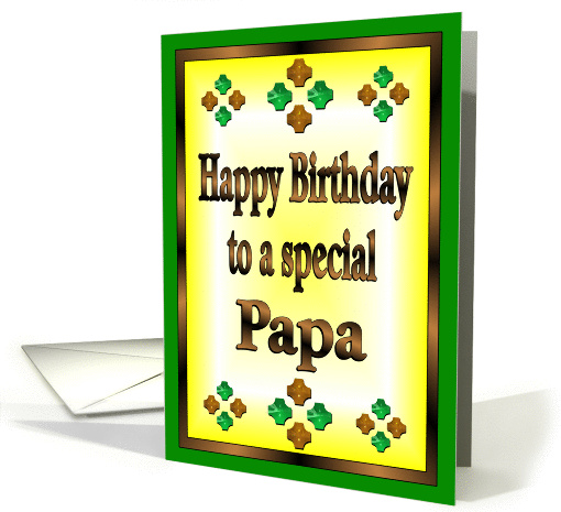 Happy Birthday Papa card (857996)