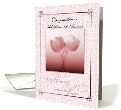 Personalized Custom Vow Renewal Congratulations card (887159)