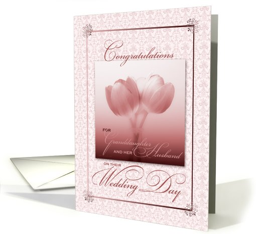 For Granddaughter and Her Husband on Their Wedding Day card (887262)